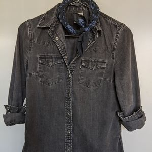 Levi's Tailored Western, Charcoal Black, XS